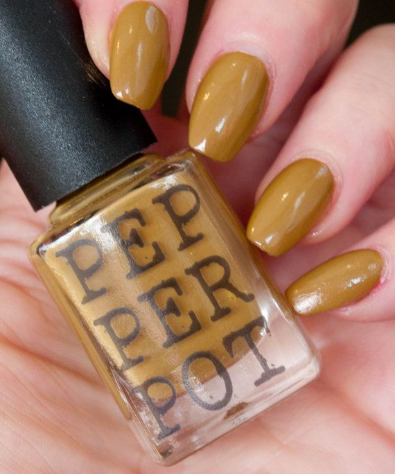 Ive Called This Polish Shell Creme Nail Is An Awesome Mustard Yellow That Has A Slightly Dark Red Black Mica Sheen Similar To Acid Queen