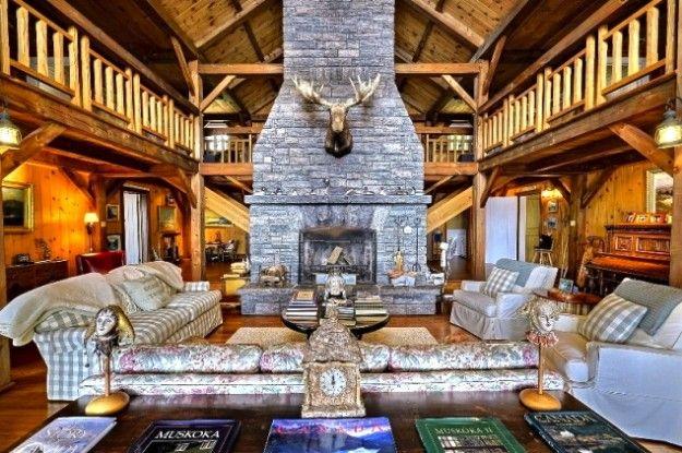Old Woman Island Lake Muskoka Great Room House Styles