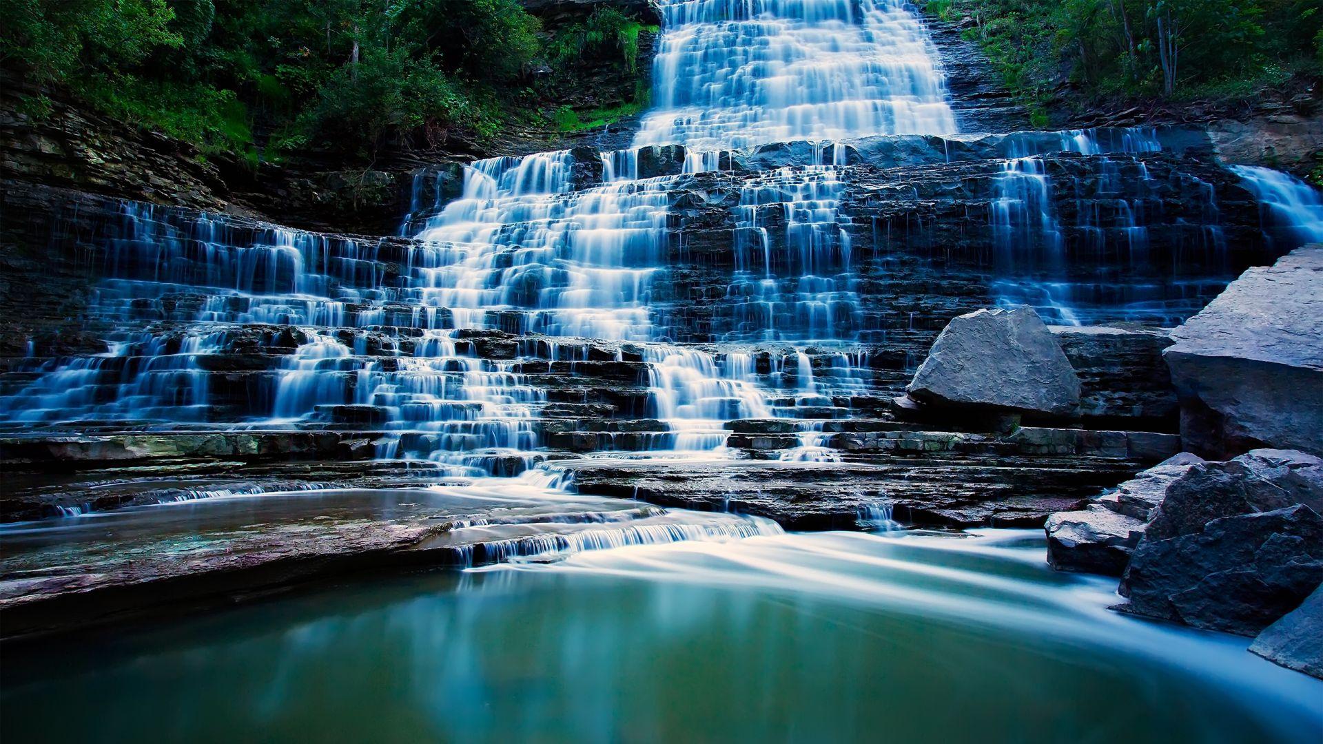 1920x1080 Wallpaper Waterfall River Beautiful Waterfall