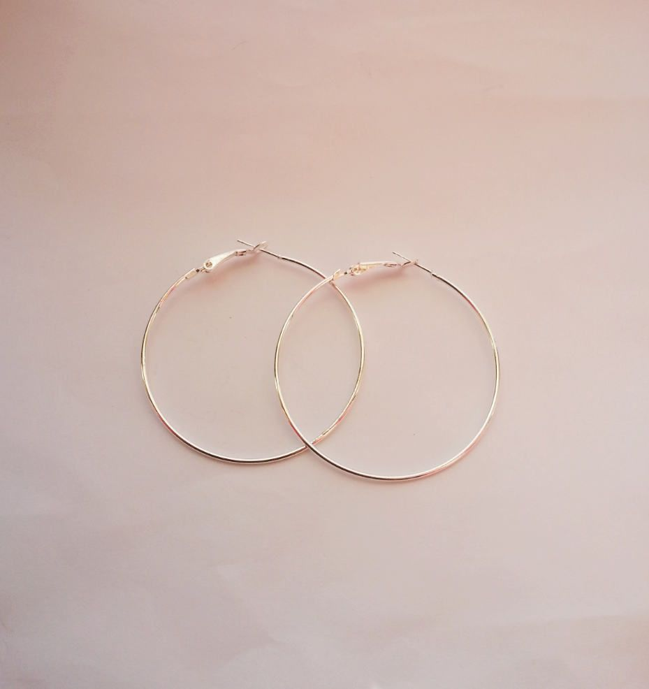 Jewelry Round Earring Hoops DIY 50mm,Wholesale Silver Hoop Earring ...