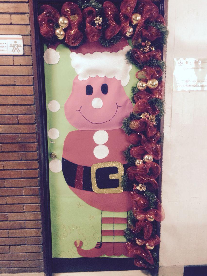 Decoracion de puertas navideñas
