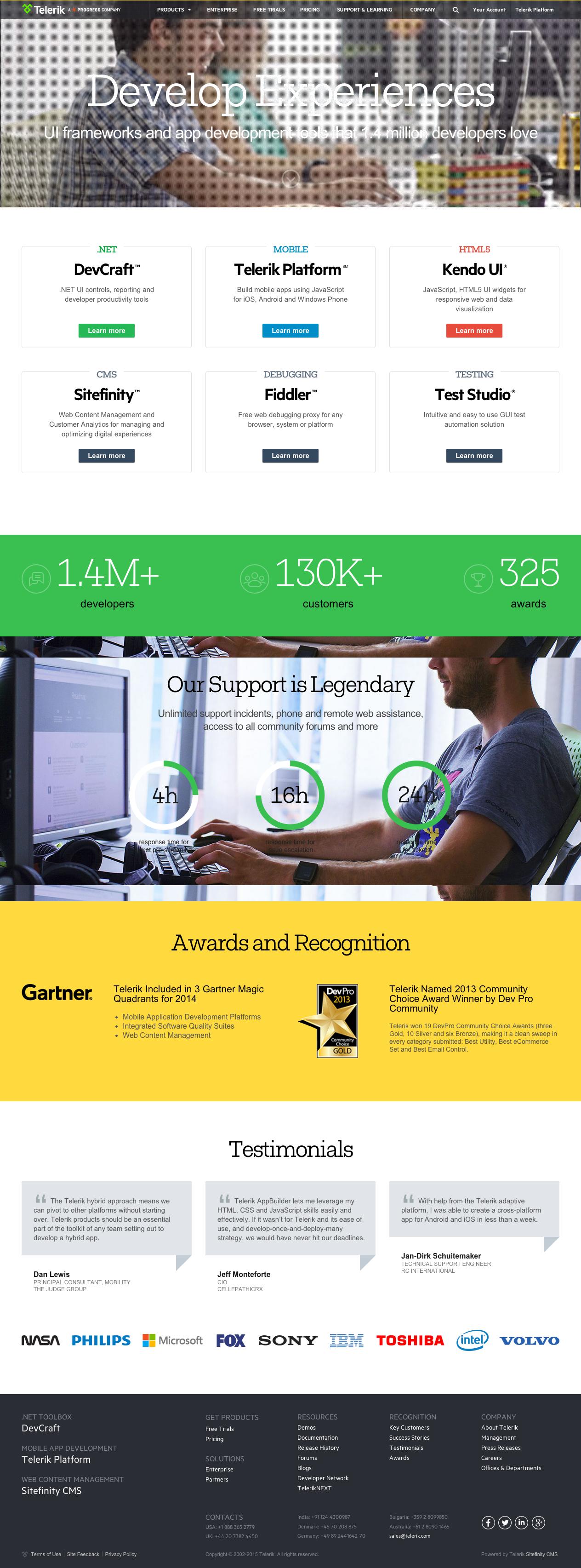 Website Homepage Design 2015 Telerik Full Png 1264 3410 Homepage Design Web Design Web Design Trends