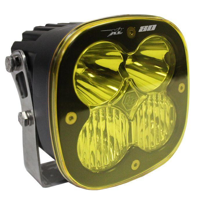 Baja Designs Squadron-R PRO Pair ATV LED Light Wide Cornering Amber Pattern