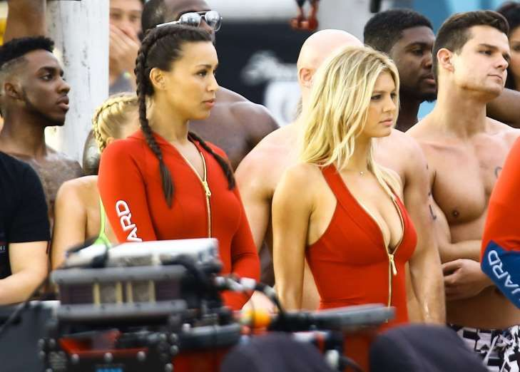 "Double trouble! Kelly Rohrbach and Ilfenesh Hadera are spotted on the set of ""Baywatch"" in Boca Rato... - VEM/Fame Flynet"