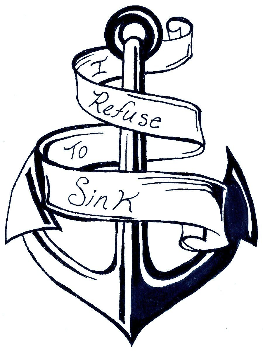 Let Go I Refuse To Sink Anchor Clip Art Sink Or Swim Tattoo