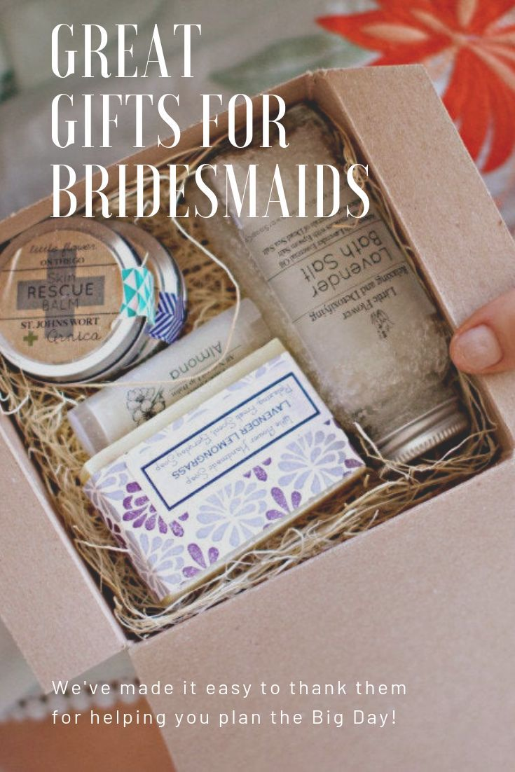 Bridesmaid gift personalized spa gift box will you be my