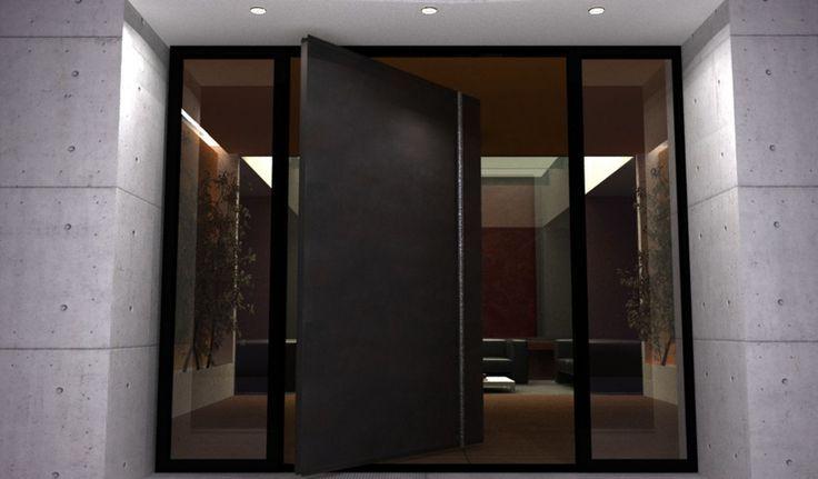 Porte Dentre Pivotante Et Lgante En 31 Ides Black Front Doors