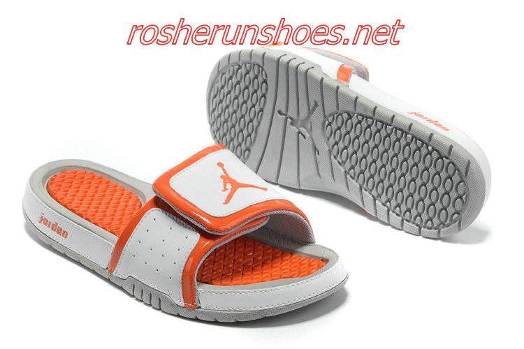 2013 Jordan Hydro 2 White Orange Slipper