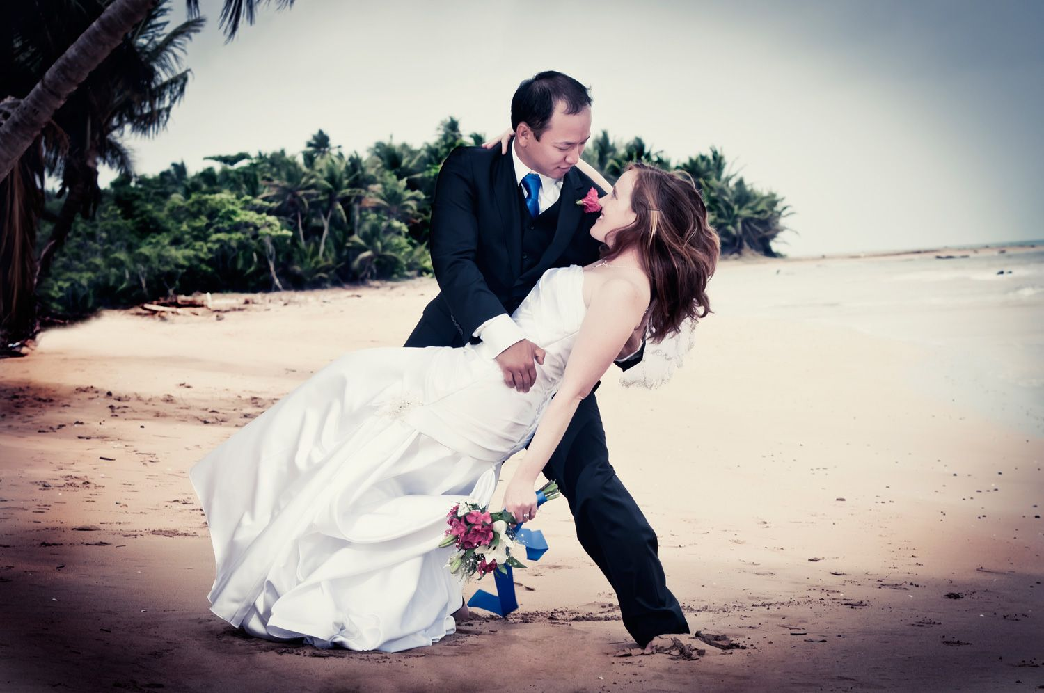 Monica & Mike @ Luquillo Beach, PR.