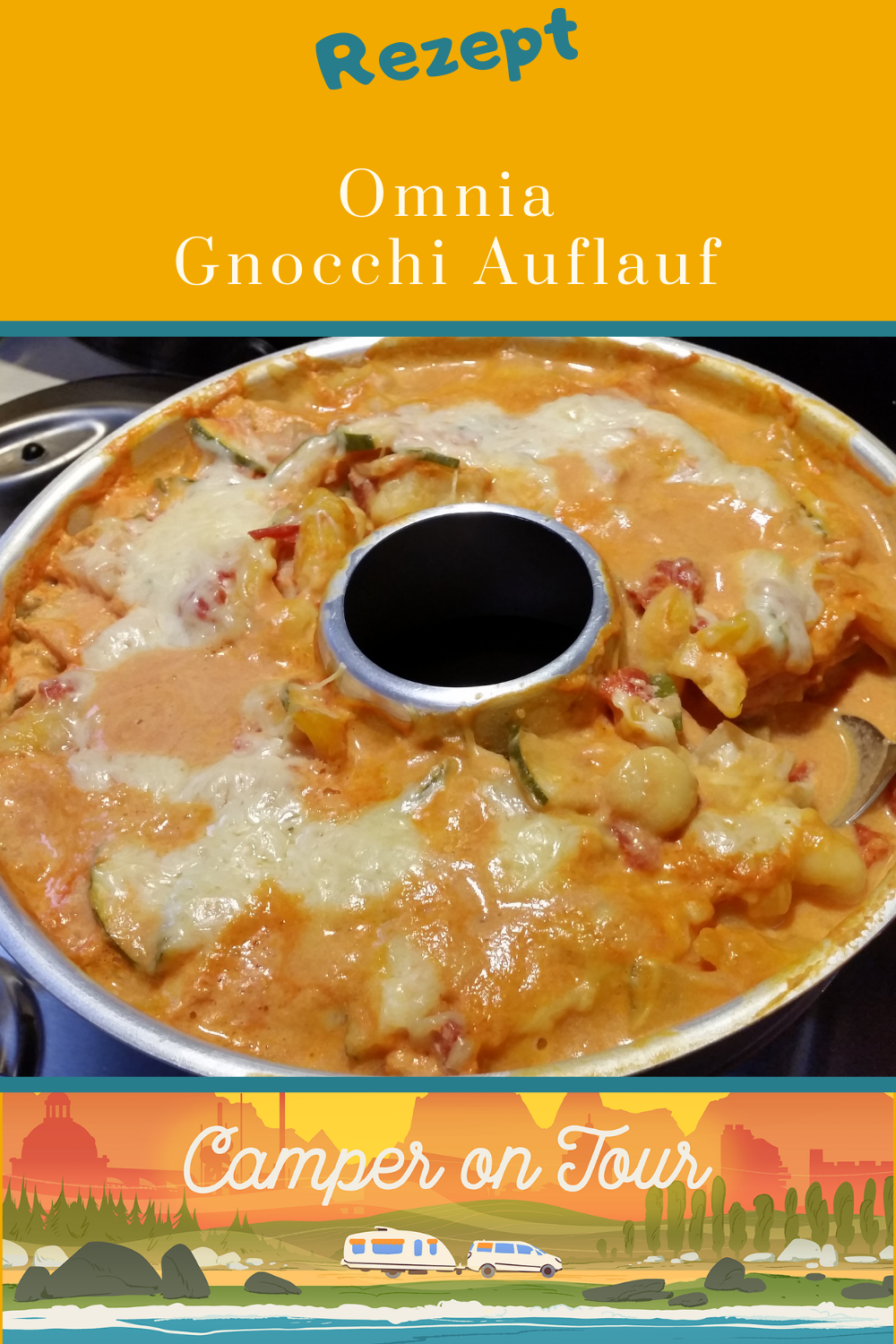 Recipes for the camping kitchen. Gnocchi casserole from the Omnia
