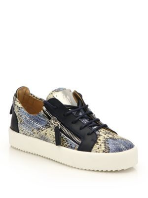 Giuseppe Zanotti Embossed Leather Low-Top Sneakers lltWnZ5Hjq