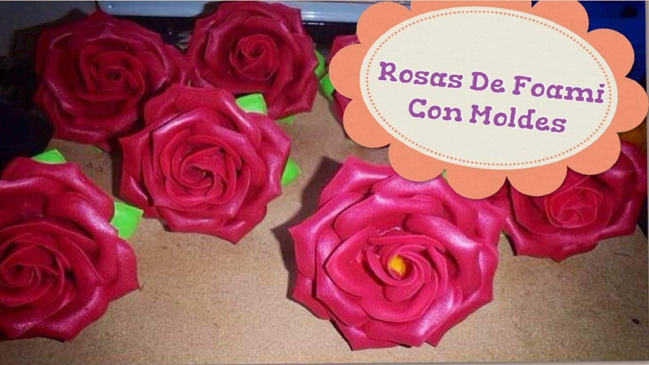 b63884006b1 Como Hacer Rosas De Foami Con Moldes
