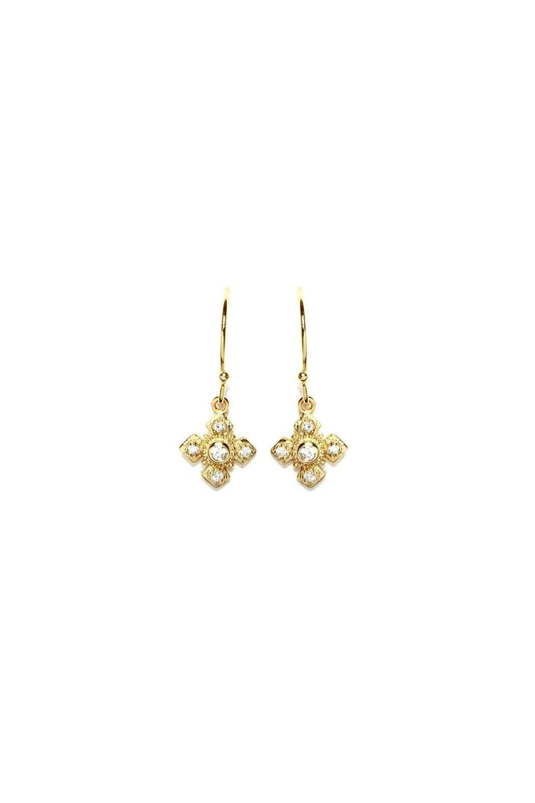 Gemma Collection Byzantine Cross Earrings | Wire crosses, Cross ...