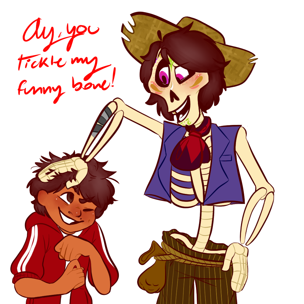 "Ay, you tickle my funny bone!"" This ask was from Miguel! (Hey"