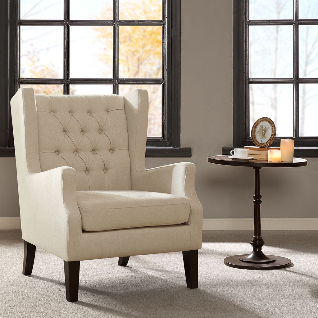 Chair Designs For Living Room Maxwell Button Tufted Wing Chair  Designer Living Arms And