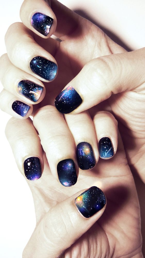 In case I feel like doing galaxy nails again... | Nails | Pinterest ...