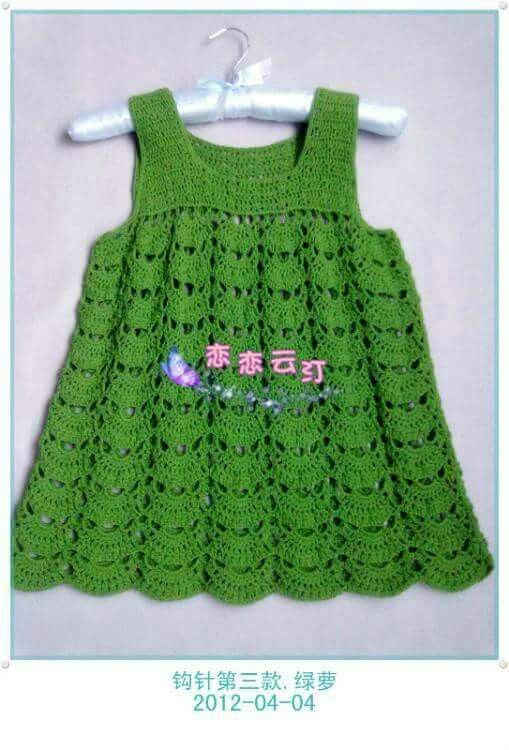 Pin de gloria elena en vestidos x bebe | Pinterest | Verde, Vestido ...