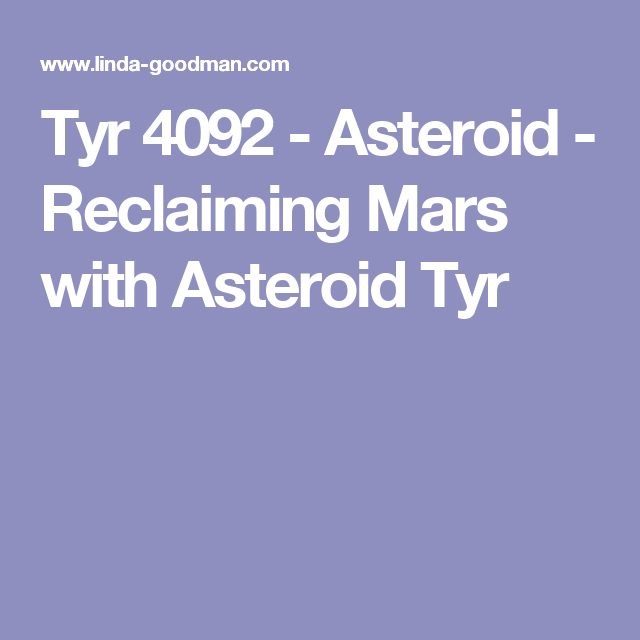 Tyr 4092 - Asteroid - Reclaiming Mars with Asteroid Tyr (I