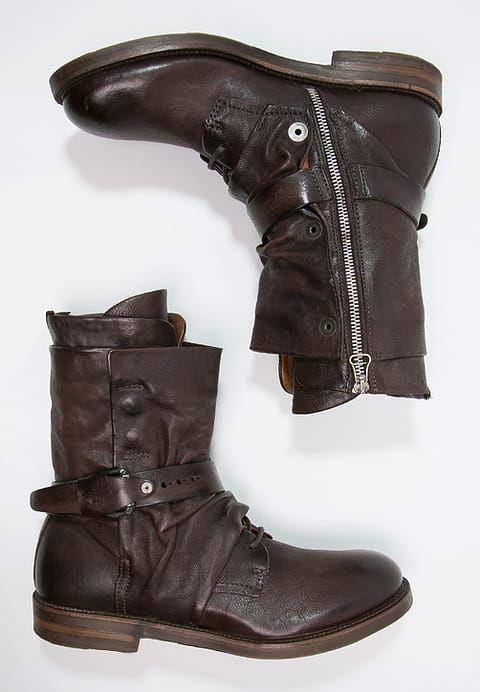 A.S.98 SAMURAI Stivali con i lacci testa di moro