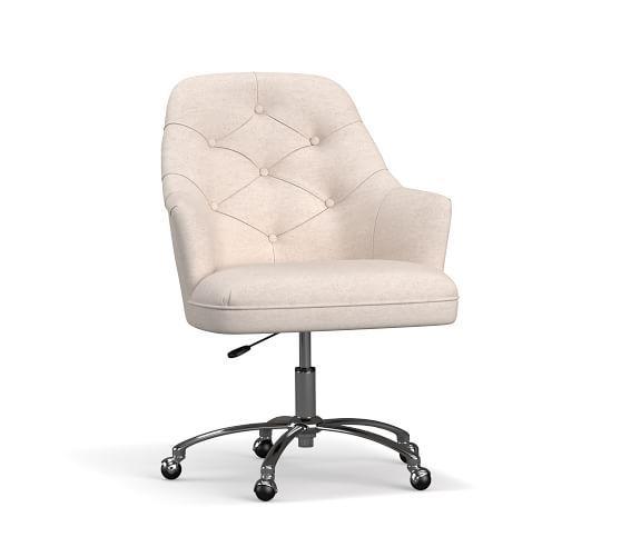 Everett Upholstered Swivel Desk Chair Swivel Chair Desk