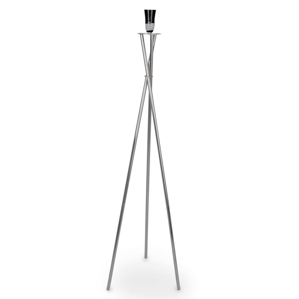 Modern Silver Chrome Tripod Floor Standing Lamp Base Home Lighting