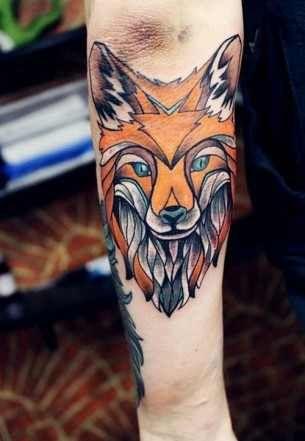 Geometric Fox Head Tattoos Fox Tattoo Hipster Tattoo