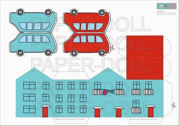 PAPER HOUSE and cars, printable toy paper doll houses , paper cars diy kit, kids toys, paper kit printables,  #cars #DIY #doll #Dollhousesimprimibles #house #Houses #Kids #Kit #paper #printable #Printables #Toy #Toys