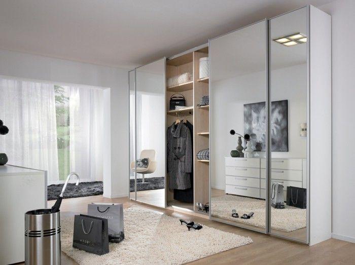 Wardrobe Design Mirror Front Page White Airy Curtains Mirrored Wardrobe, Wardrobe  Closet, Wardrobe Design