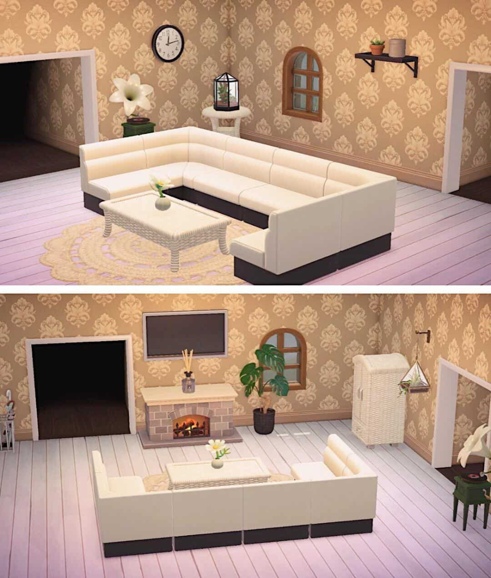 Animal Crossing New Horizons Living Room Designs In 2020 Animal Crossing Animal Crossing Game Animal Crossing 3ds