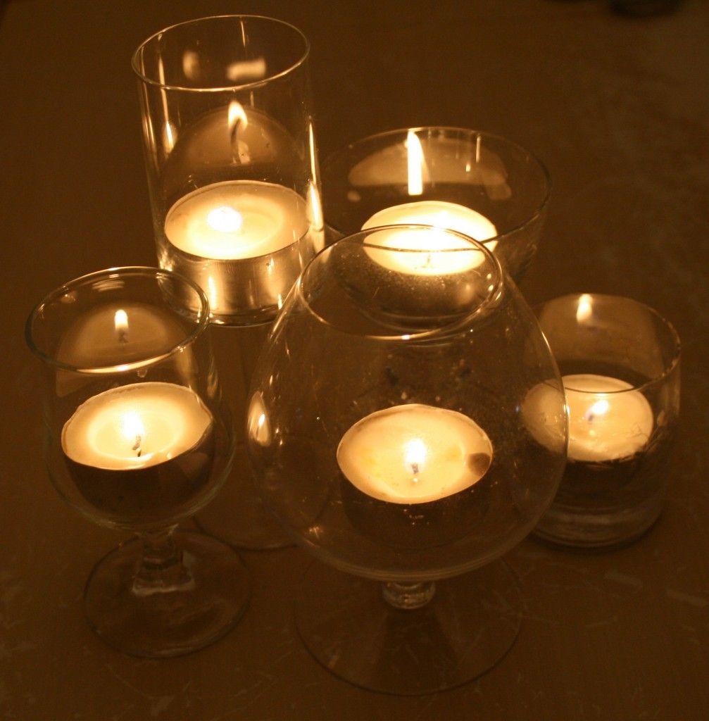 2 Minute Diy Tea Light Candle Centerpieces Vintage Lights Wedding