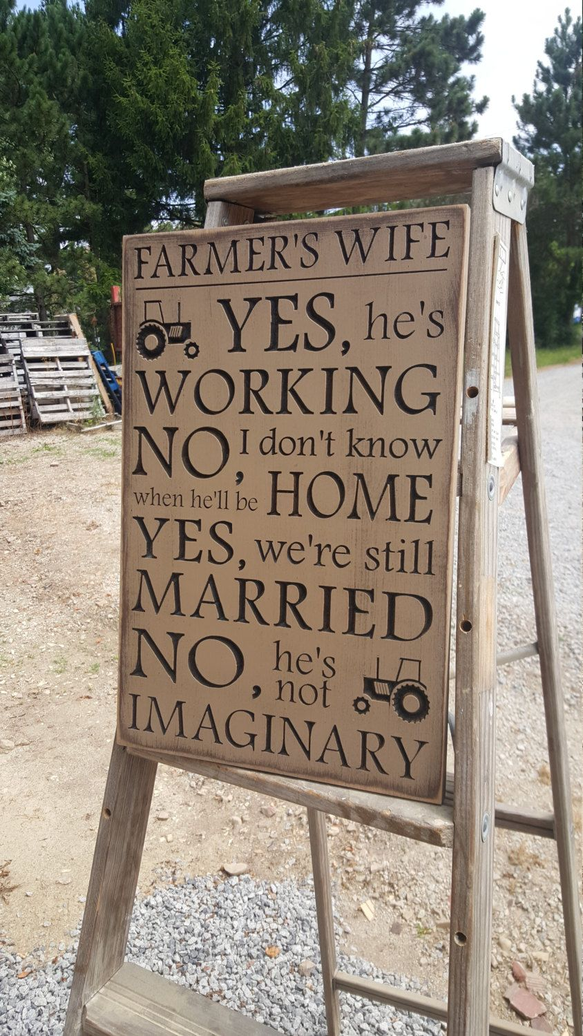 "Custom Carved Wooden Sign - ""Farmer's Wife"" by HayleesCloset on Etsy"