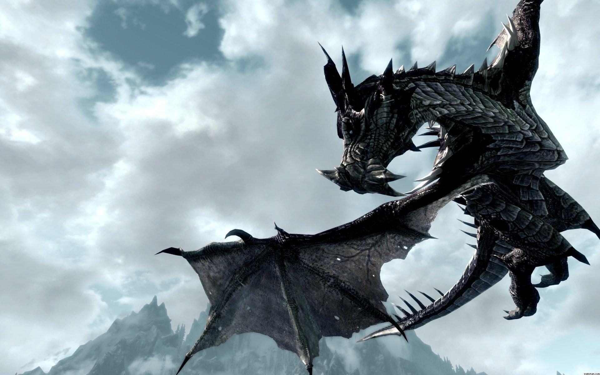 Dragon Skyrim Wallpaper Hd Snow Dragon Skyrim Skyrim Wallpaper