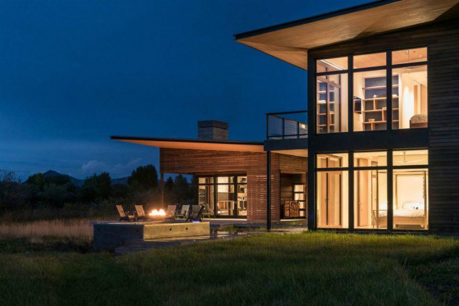 Captivating #Moderne Innenräume Modernes Haus In Der Nähe Von Wyoming Mountains  Profitiert Von Seiner Lage #