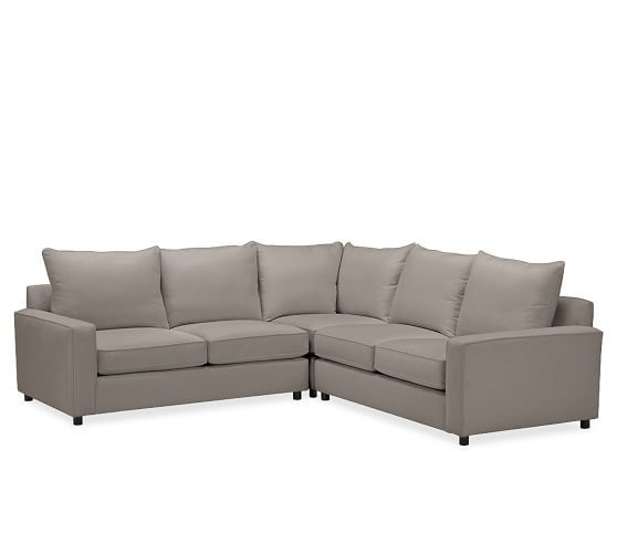 Pb Comfort Square Arm Upholstered 3 Piece L Shaped Corner Sectional Box Edge Polyester Wrapped Cus Upholstered Sectional Sectional Sectional Sofas Living Room