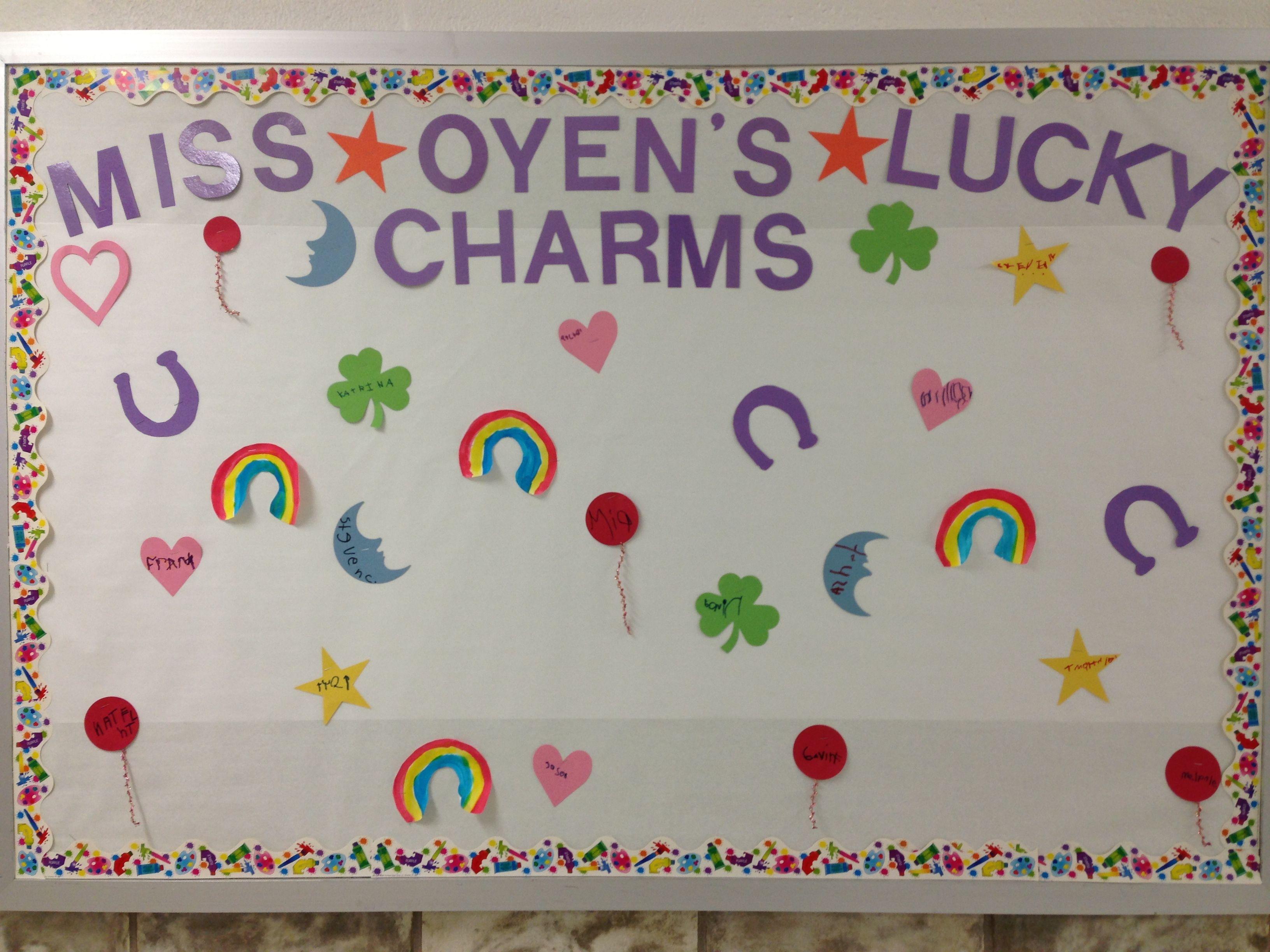 March Bulletin Board My Lucky Charms Kindergarten Boards Creative