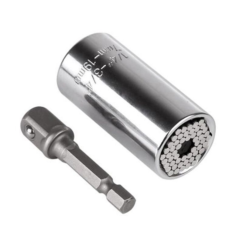 Magic Multifunctional  Power Drill Adapter Socket Wrench Sleeve Grip 7-19mm