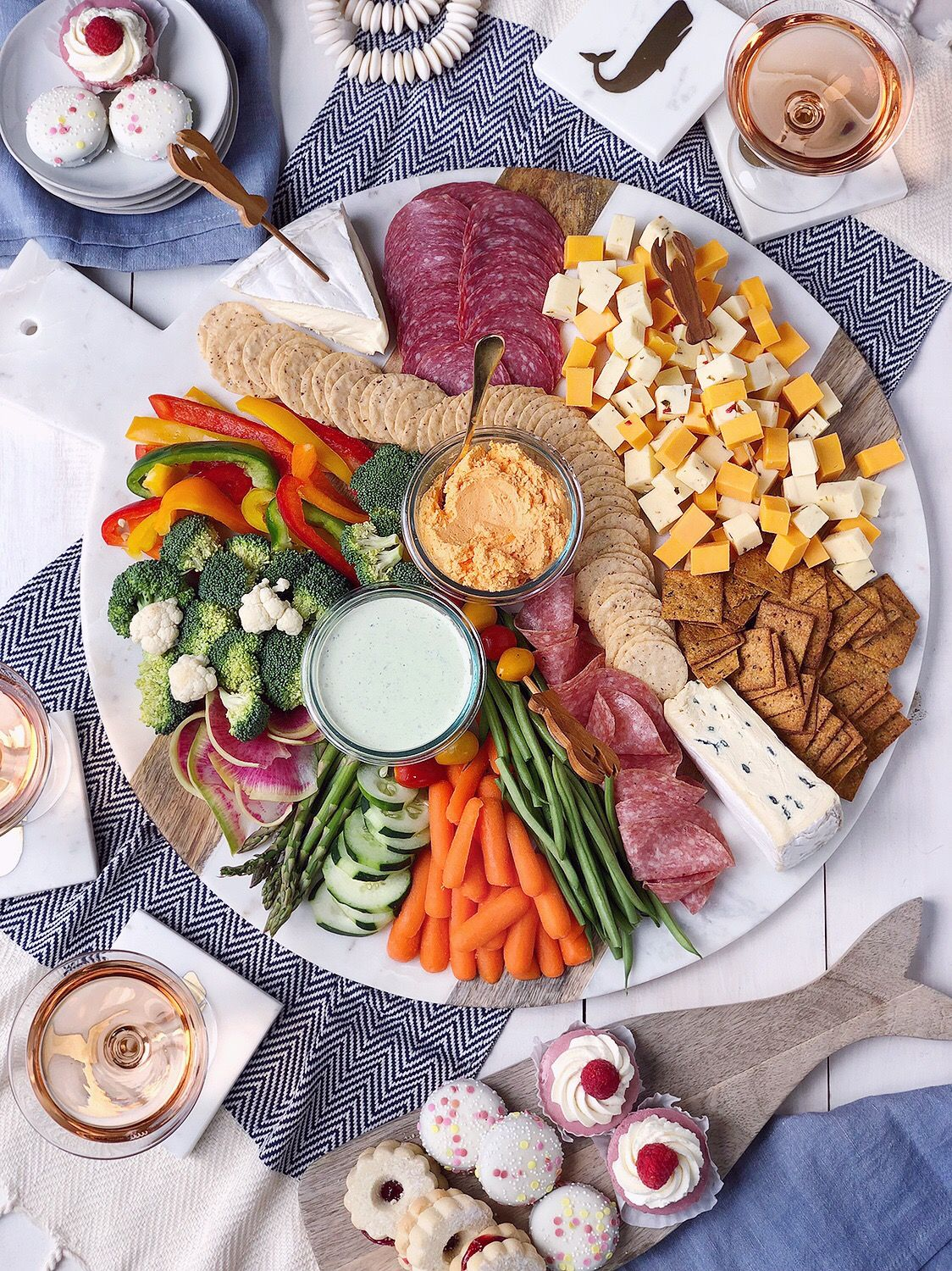 A New England Summer Grazing Board New years eve snacks