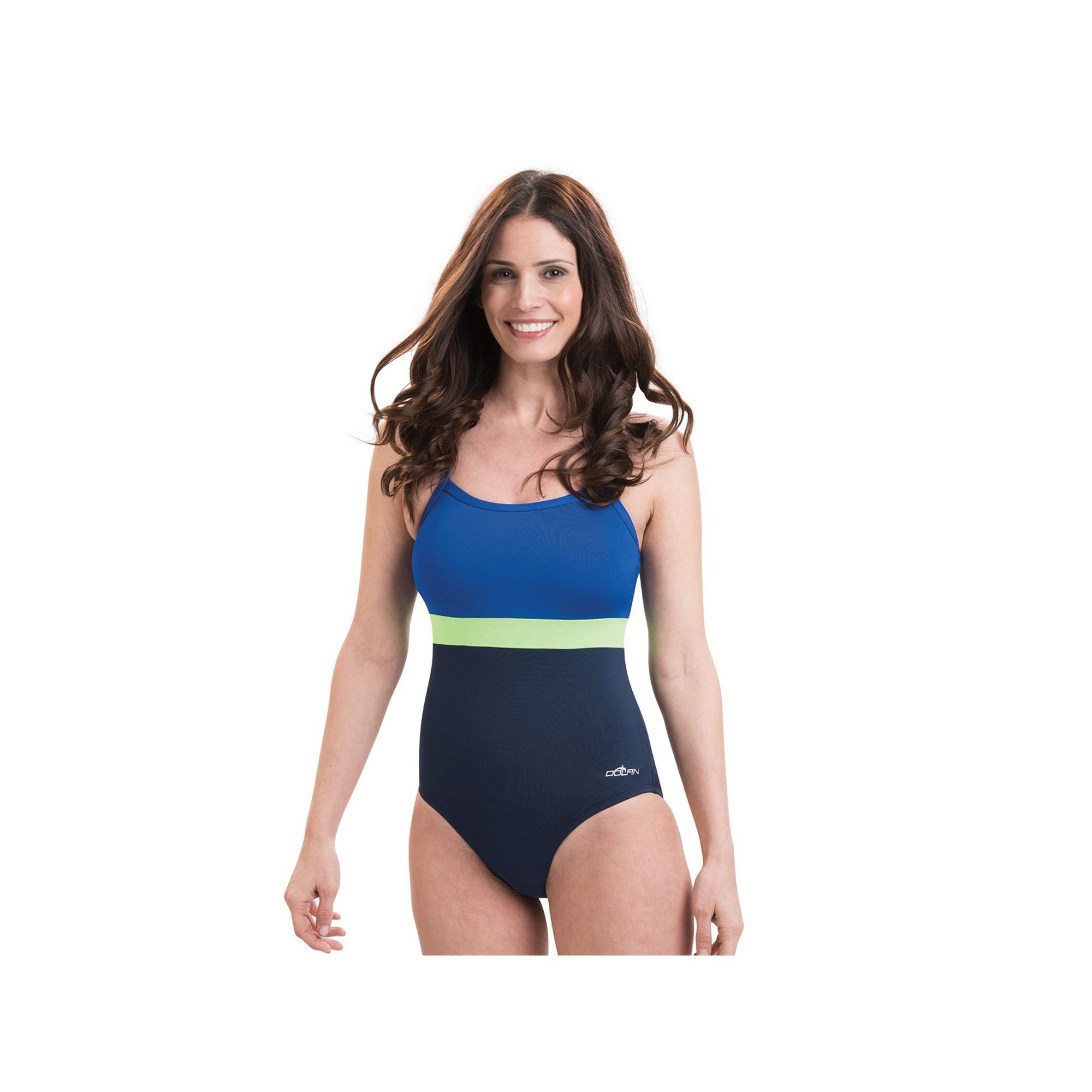91354acb355 Plus Size Women s Dolfin Colorblock X-Back One-Piece Swimsuit