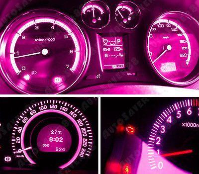 100x T5 B8 4d 5050 Smd Led Pink Purple Dash Dash Gauge Instrument