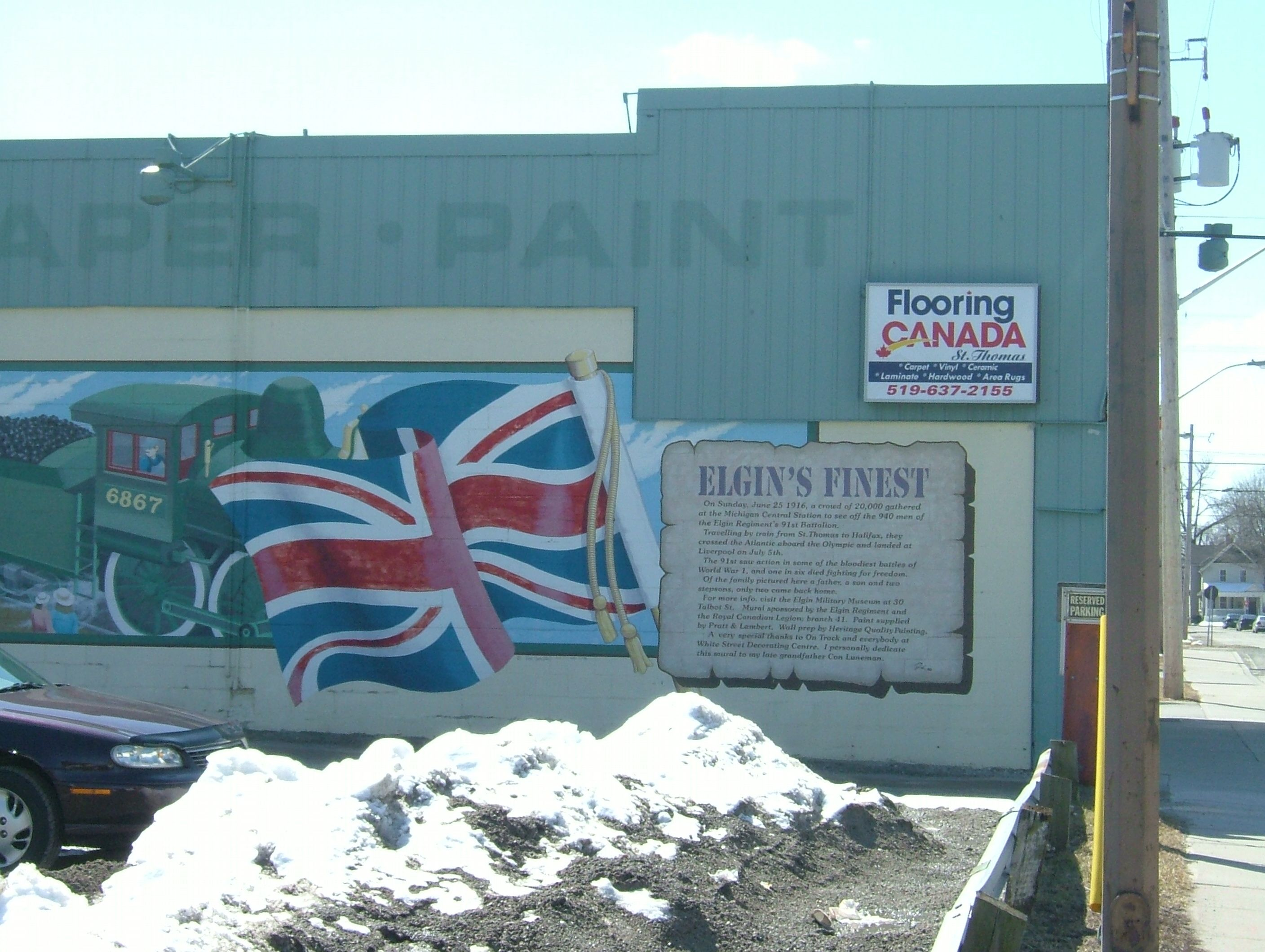 Wall Mural Building In St. Thomas Ontario Murals