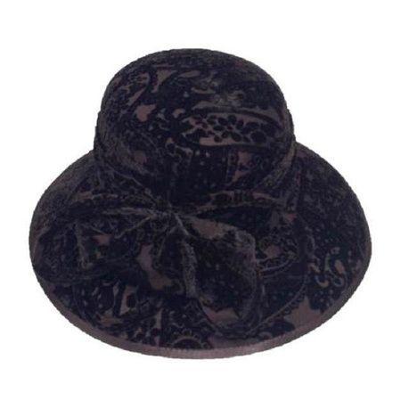 Swan Hat Women's Desing Embossed Covered Hat