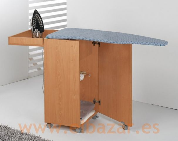 Tabla armario para plancha de ropa plegable ideas for Mueble para tabla de planchar