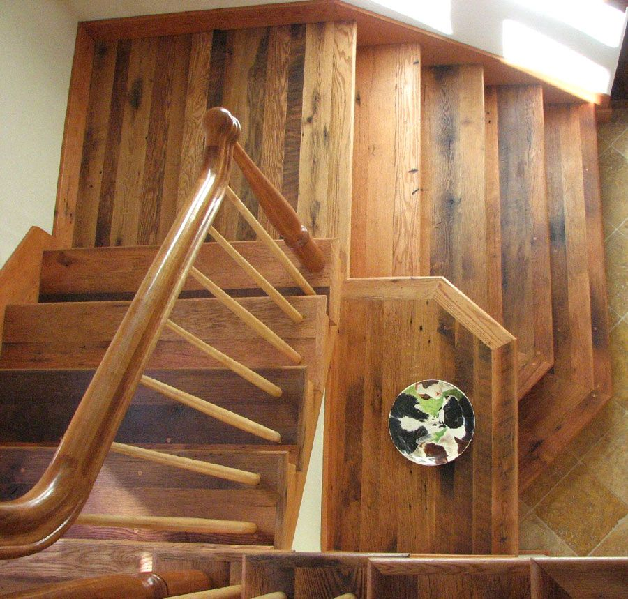 Best Barn Board Oak Stair Treads Millwork Reclaimed Barn 400 x 300