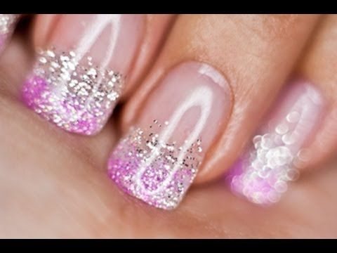 Lucy's Stash - Glitter Gradient Nail Art tutorial - YouTube