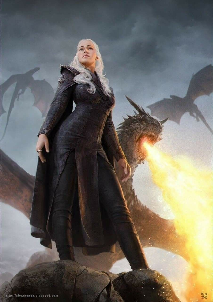 Dany And Her Amazing Dragons Game Of Thrones Art Mother Of