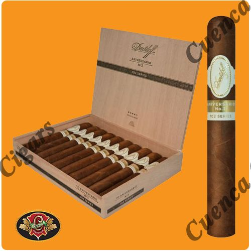 Davidoff 702 Aniversario No 3 Cigars - Box of 10 - Price: $242.90