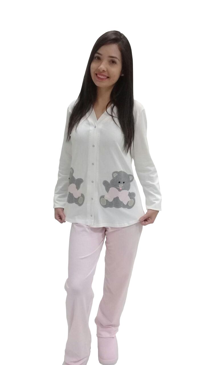 1065b1d39106b9 Pijama manga longa com botões para amamentar! Visite nosso site e ...