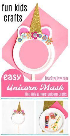 Paper Plate Unicorn Mask is a Fun Kids Craft to Make #unicorncrafts