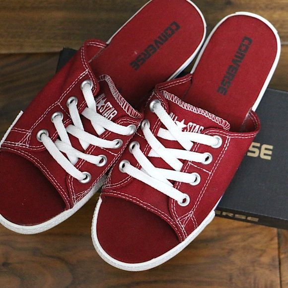 NWT *RARE* Converse All-Star Cutaway Red Sandals Boutique