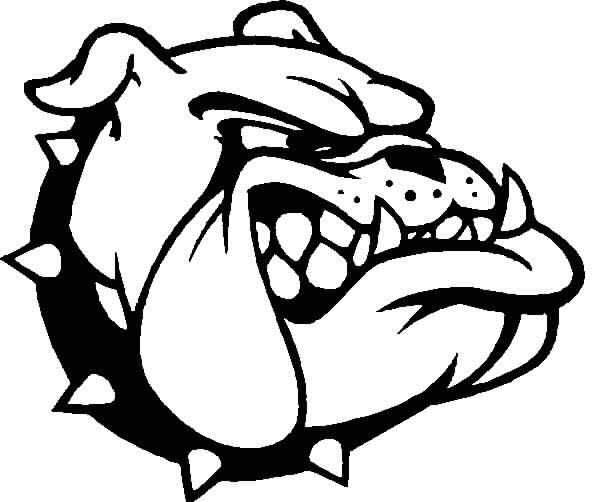 Ga Bulldog Colouring Pages Craft Ideas Outdoor Water Games